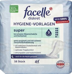 facelle diskret Hygiene-Vorlagen super