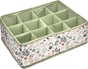 IDEENWELT Accessoirebox mit flexibler Unterteilung floral