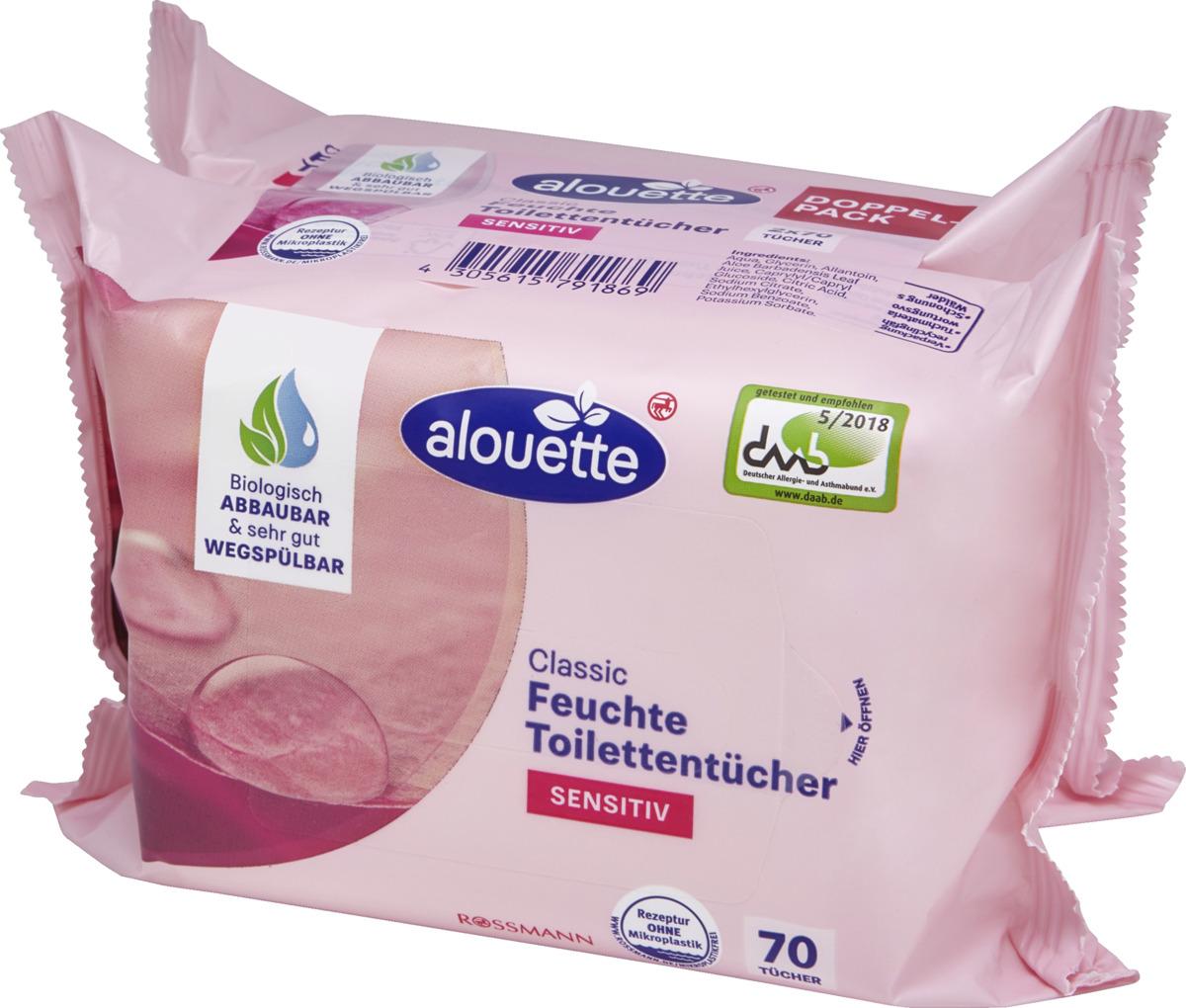 Bild 3 von alouette Classic feuchte Toilettentücher Sensitiv Doppelpack