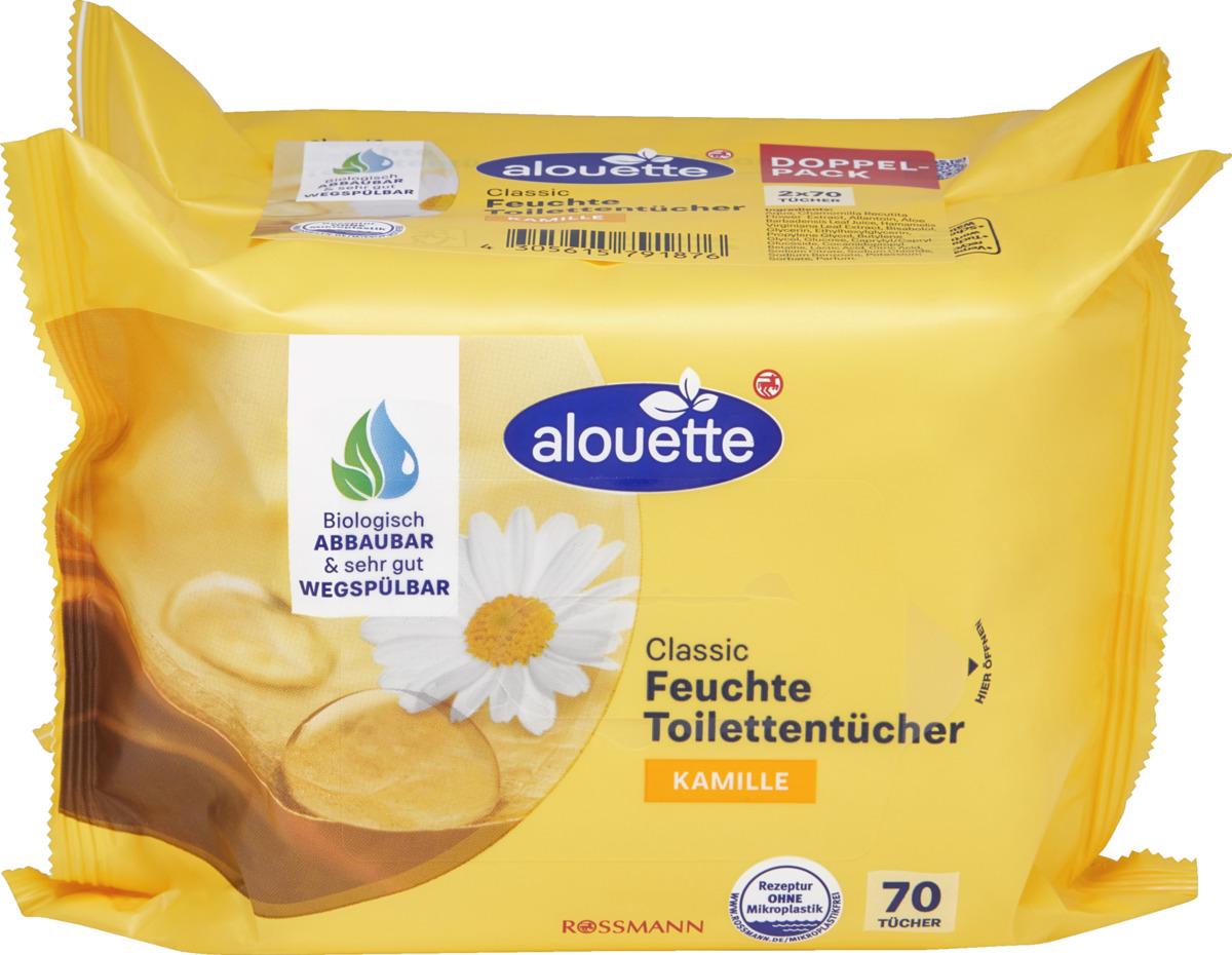 Bild 1 von alouette Classic feuchte Toilettentücher Kamille Doppelpack