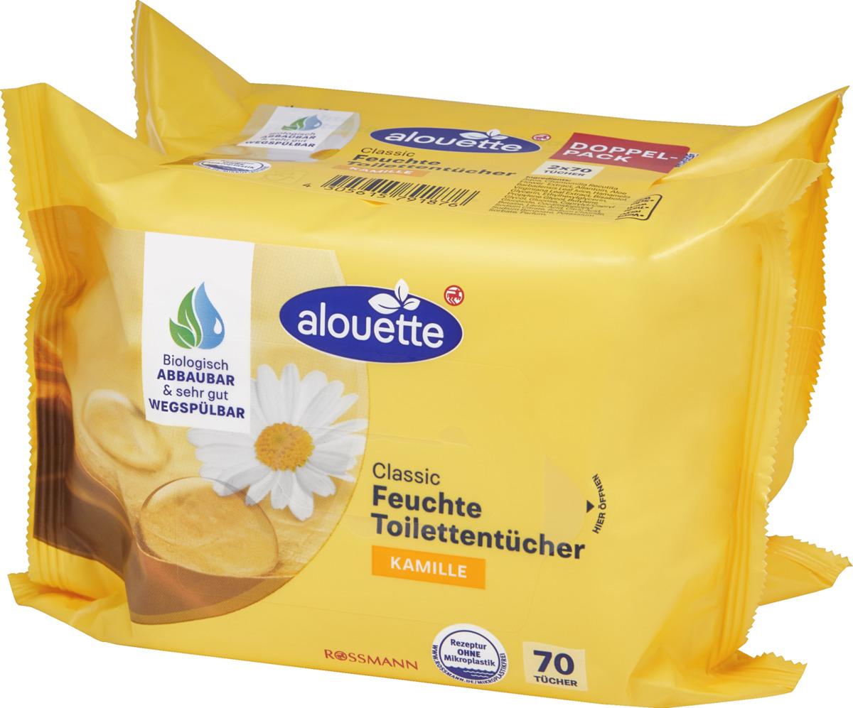 Bild 3 von alouette Classic feuchte Toilettentücher Kamille Doppelpack