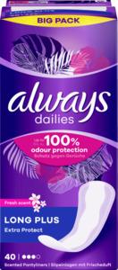 Always Dailies Long Plus Extra Protect Fresh scent Slipeinlagen Big Pack