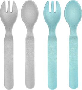 reer Growing Besteck 2er Set blau/grau