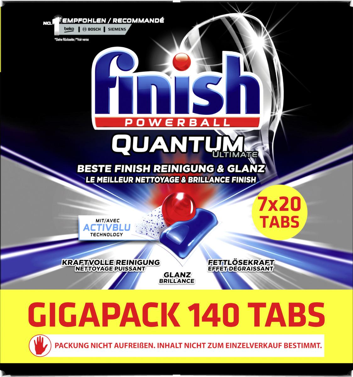 Bild 1 von Finish Powerball Quantum Ultimate Geschirrspültabs Gigapack