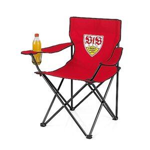 VFB Campingstuhl faltbar 80x50cm rot mit Logo
