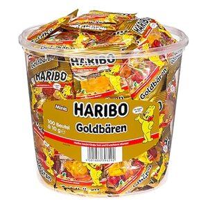 Haribo Goldbären Fruchtgummi Minis - 100 Stück im Eimer, 1kg