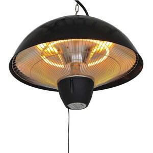 Outsunny Elektrischer Heizstrahler mit Zugseil schwarz/silber