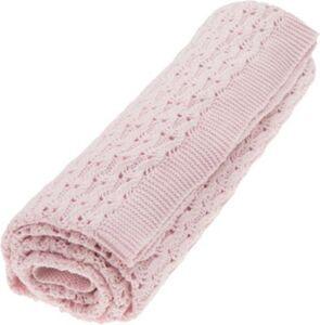 """Grace Decke ÖKO """"Pink Sunset"""" pink Gr. 80 x 100"""