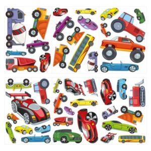 Wandtattoo Set Autos, Busse und Montertrucks Wandtattoos mehrfarbig Gr. one size