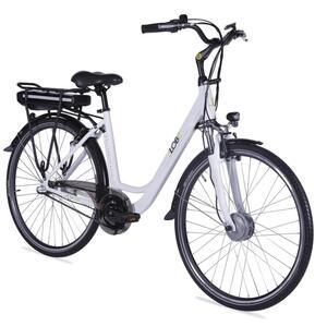 "E-Bike 28"" Alu City Bike Metropolitan JOY weiß 36V/10Ah, 3-Gang Shimano"