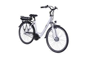 "E-Bike 28"" Alu City Bike Metropolitan JOY weiß 36V/13Ah, 3-Gang Shimano"