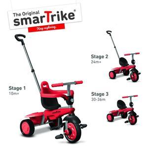 Smartrike Breeze Dreirad mit Schubstange; Farben: Rot/Schwarz