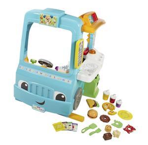 Fisher-Price Lernspaß Food-Truck, Baby-Spielzeug, Kaufmannsladen, Lernspielzeug