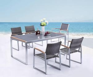 5tlg Garden Pleasure Sitzgruppe Tisch Esstisch Stuhl Stühle Sessel Terrasse