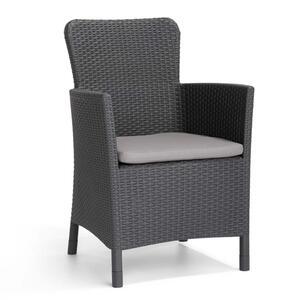 Allibert Miami Dining Chair graphite + Kissen; 216835