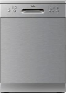 Amica GSP 14755 E, Stand-Geschirrspüler, 60 cm, Edelstahlfront, 14 Maßgedecke, 6 Spülprogramme, 5 Temperaturen,