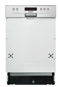 respekta Spülmaschine Geschirrspüler Einbau teilintegriert 45 cm  Aquastop