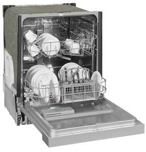 Exquisit Einbaugeschirrspüler EGSP6012-EB-030E inox   teilintegriert   12 Gedecke   Inox