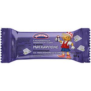 Frischkäseriegel mit Mascarponegeschmack in kakaohaltiger Fe...
