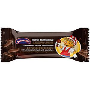 Frischkäseriegel mit Schokogeschmack und -stückchen in kakao...