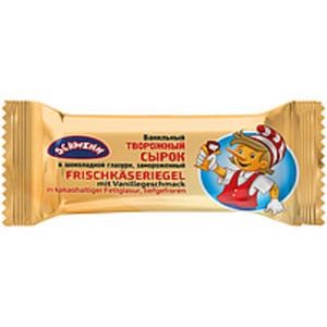 Frischkäseriegel mit Vanillegeschmack in kakaohaltiger Fettg...
