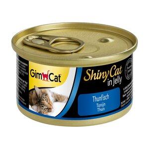 GimCat Katzenfutter ShinyCat Thunfisch in Jelly 24x70g