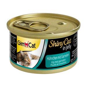 GimCat ShinyCat in Jelly 24x70g Hühnchen mit Garnelen