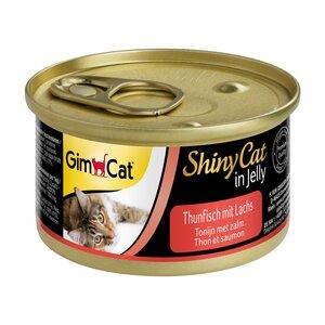 GimCat ShinyCat in Jelly Thunfisch mit Lachs 24x70g