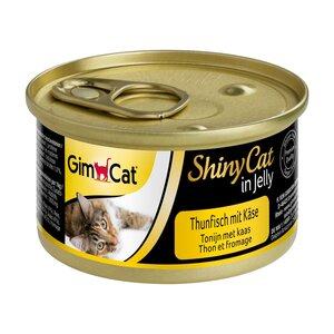GimCat ShinyCat in Jelly Thunfisch mit Käse 24x70g