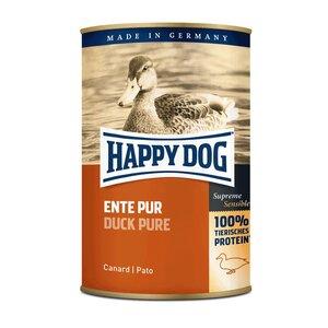 Happy Dog Hundefutter Ente Pur 24x400g