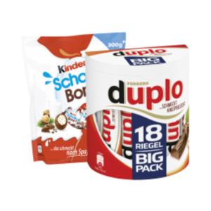 Duplo, Kinder Riegel Big Pack oder Schoko Bons