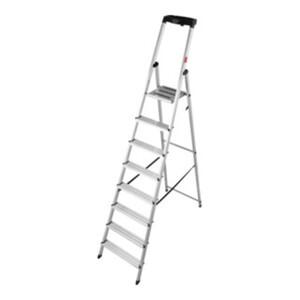 STIER Stufen Stehleiter 8 Stufen einseitig begehbar