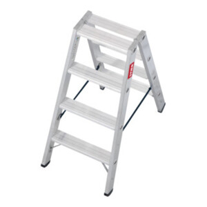 STIER Stufen Stehleiter Premium 2x4 Stufen beidseitig begehbar