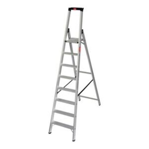 STIER Stufen Stehleiter Premium 8 Stufen einseitig begehbar