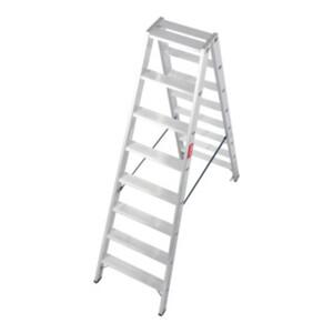 STIER Stufen Stehleiter Premium 2x8 Stufen beidseitig begehbar