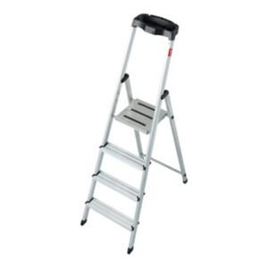 STIER Stufen Stehleiter 4 Stufen einseitig begehbar