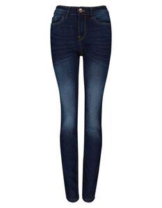 Damen Slim Fit Jeans im Stone Washed Look