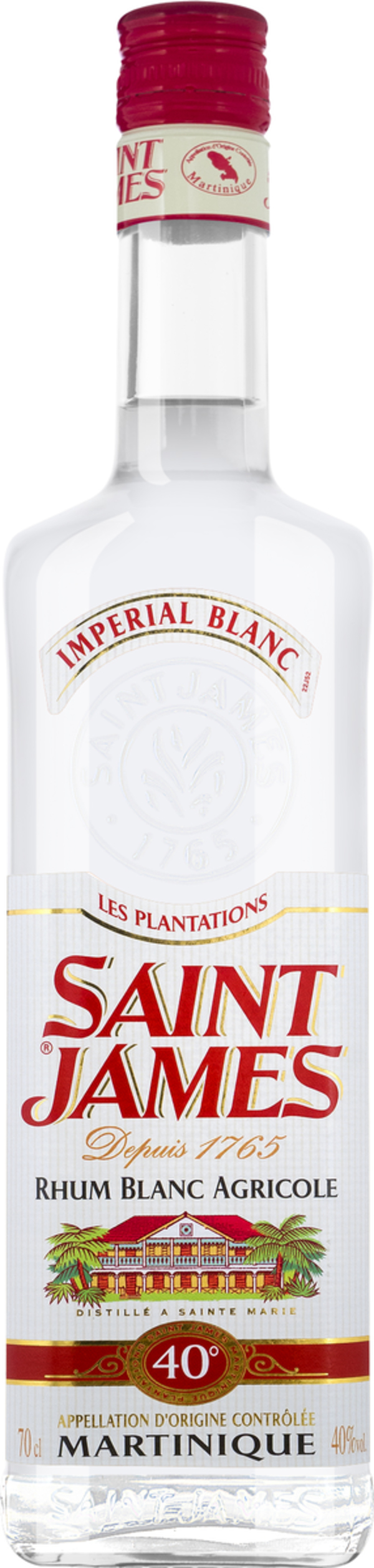 Saint James Imperial Blanc Rhum Blanc Agricole   - Rum, Martinique, trocken, 0,7l