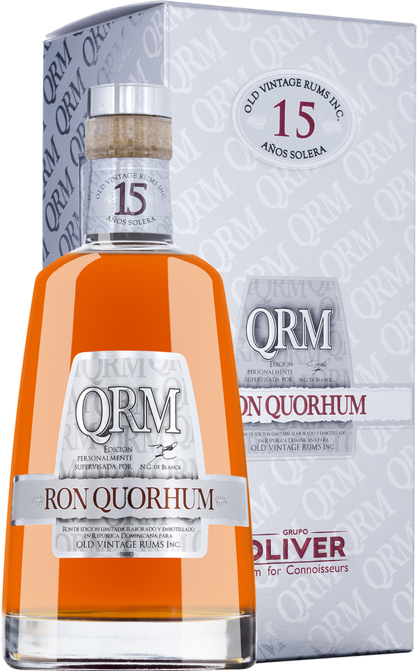 Ron Quorhum Solera Rum 15 Jahre in Gp   - Rum - Oliver & Oliver, Dominikanische Republik, trocken, 0,7l