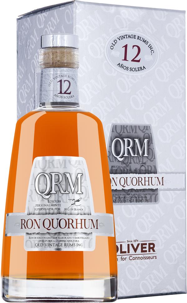 Ron Quorhum Solera Rum 12 Jahre in Gp   - Rum - Oliver & Oliver, Dominikanische Republik, trocken, 0,7l