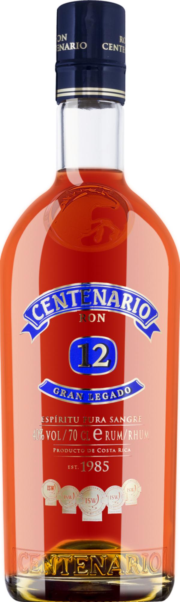 Ron Centenario Gran Legado Rum 12 Jahre   - Rum, Costa Rica, trocken, 0,7l
