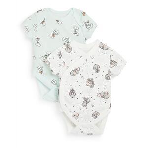 """Pastellfarbene """"Dumbo"""" Bodys für Neugeborene, 2er-Pack"""