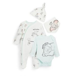 "Pastellfarbenes, 4-teiliges ""Dumbo"" Set für Neugeborene"