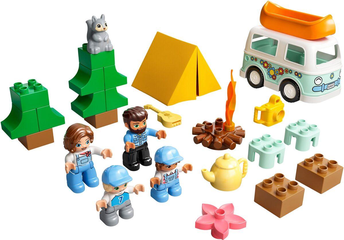 Bild 2 von LEGO® Konstruktionsspielsteine »Familienabenteuer mit Campingbus (10946), LEGO® DUPLO® Town«, (30 St), Made in Europe