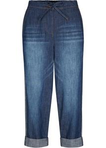 Jeans mit Bequembund und seitlichem Streifen, Straight-Fit
