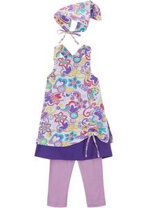 Mädchen Kleid, Leggings, Kopfbedeckung (3-tlg.Set)