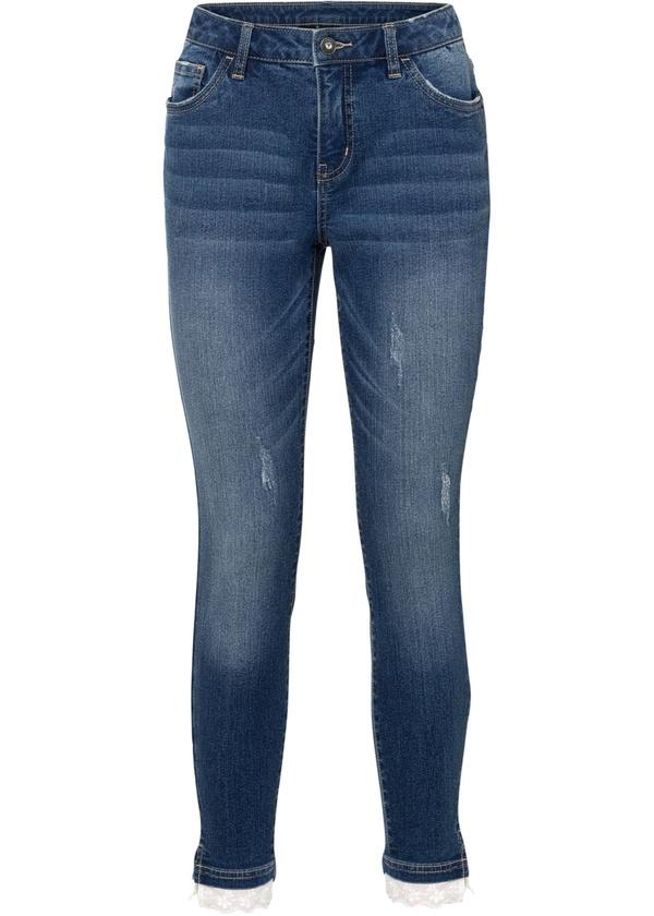 Skinny-Jeans mit Spitze