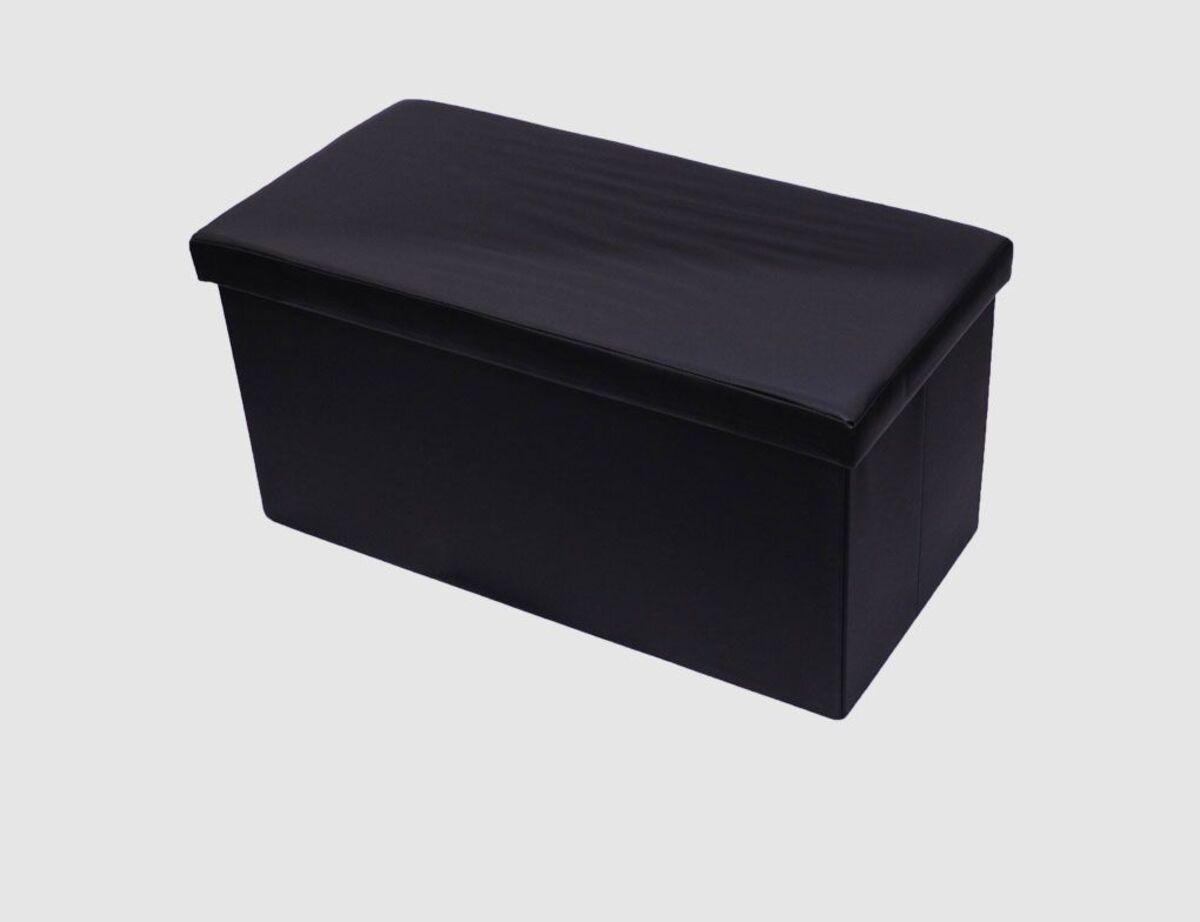 Bild 1 von Sitzhocker Kunstleder schwarz rechteckig