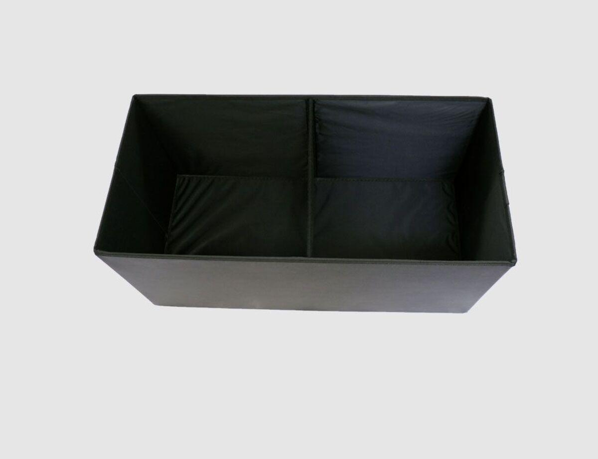 Bild 3 von Sitzhocker Kunstleder schwarz rechteckig