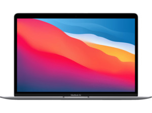 APPLE MacBook Air (M1,2020) MGN63D/A, Notebook mit 13,3 Zoll Display, 8 GB RAM, 256 SSD, 7-Core GPU, Space Grau